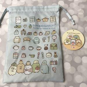 BNWT Sumikko Gurashi Drawstring Bag